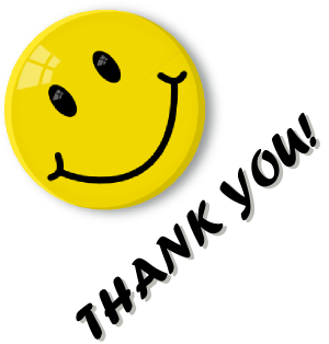 300x314 Smiley Clipart Thanks