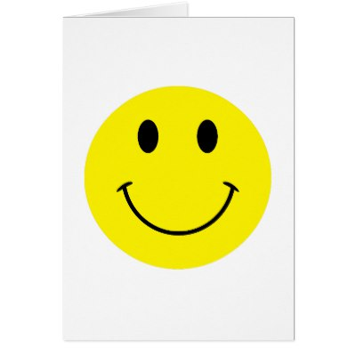 400x400 Happy Smiley Face Smile Yellow Card