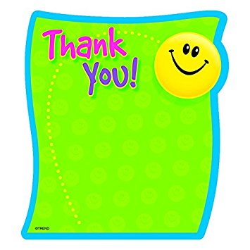 355x355 Thank You, Smiley Face, Fun Design Notepad For Teachers