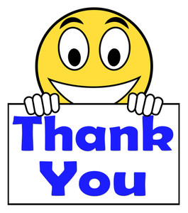 265x300 Thank You On Sign Showing Gratitude Texts And Appreciation Royalty
