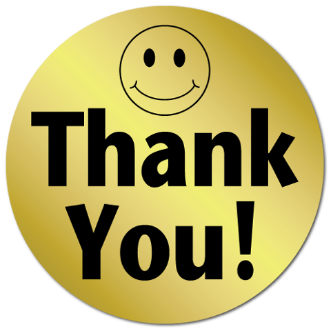 480x480 Thank You Smiley Face Clip Art