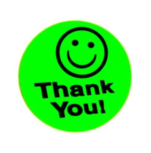 493x500 500 Big Green Thank You Smiley Label Sticker Best Price 1 12