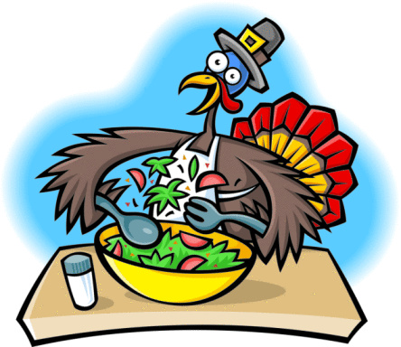 444x384 Funny Turkey Clipart