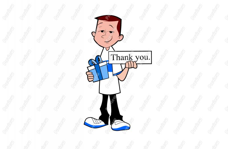 800x523 Thank You Teen Boy Gift Character Clip Art