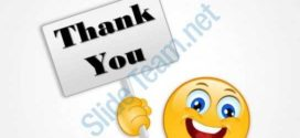 272x125 0314 Thank You With Smiley Powerpoint Shapes Powerpoint Slide