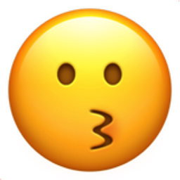 256x256 Kissing Face Emoji U 1f617