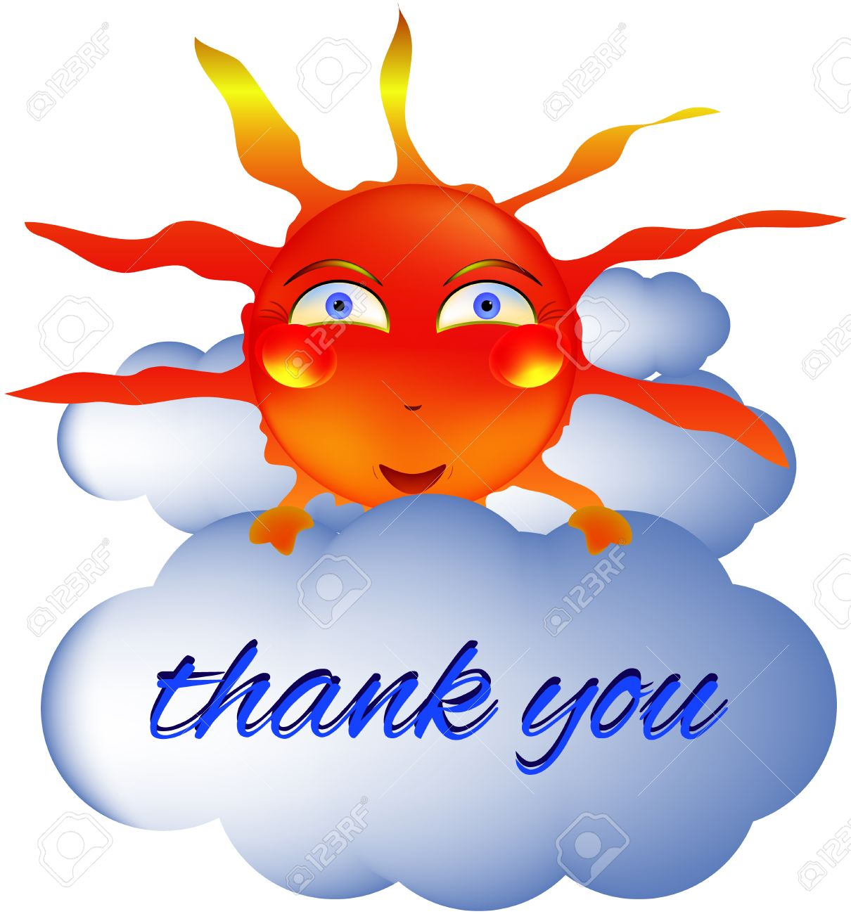 1210x1300 Sun Smiley Smiling Thank You Summer Cloud Royalty Free Cliparts