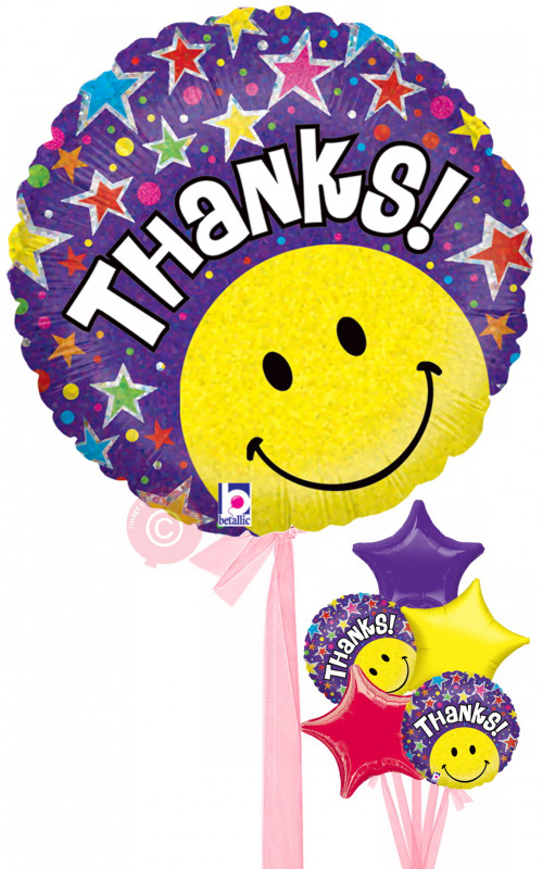 500x800 Thank You Message Balloons