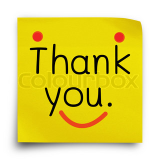 320x320 Thank You Notice Shows Thanks Stock Photo Colourbox