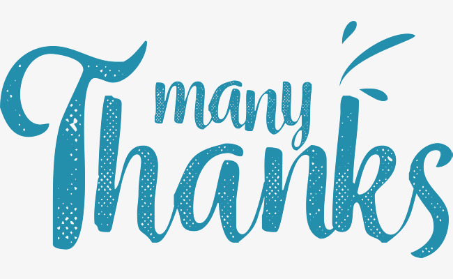 650x400 Blue Handwriting Thank You Card, Vector Png, Thank You, Thank You