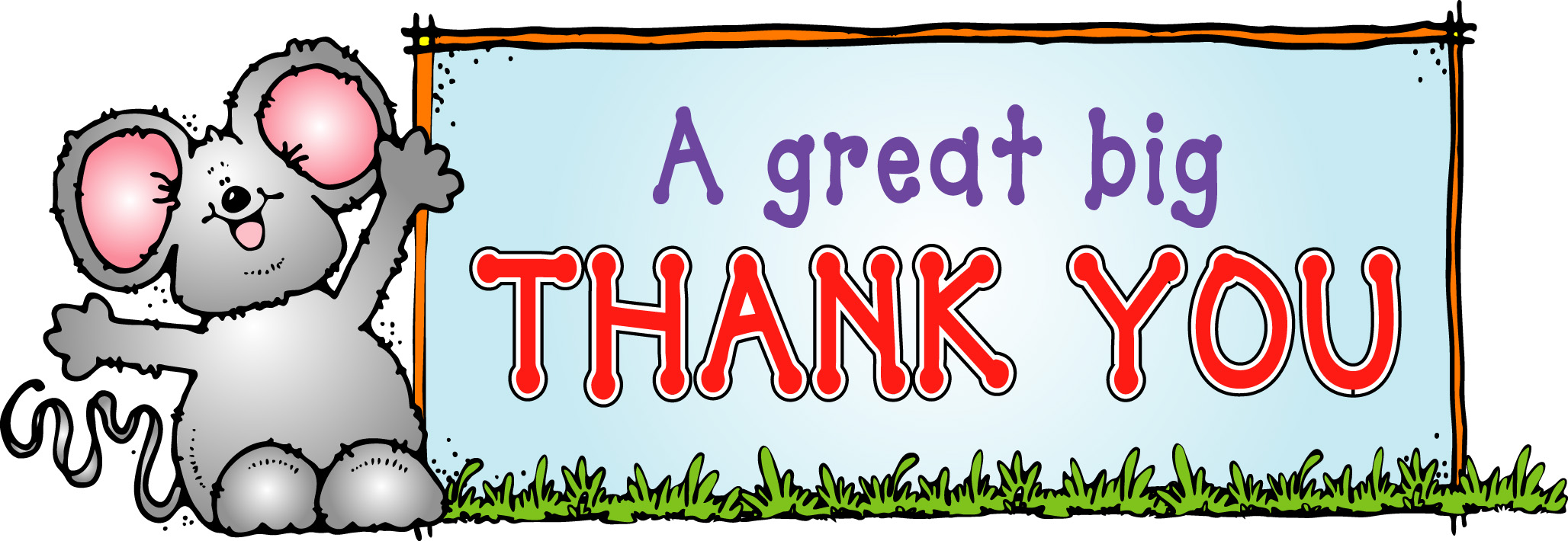 2056x710 Thank You Volunteers Clipart