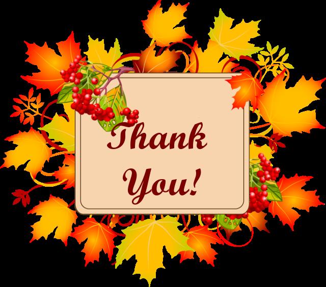 640x564 Autumn Thank You Clipart