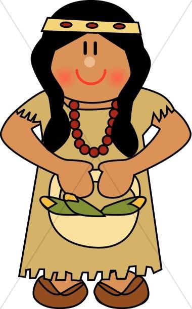 380x612 Thanksgiving Pilgrim Girl Clip Art