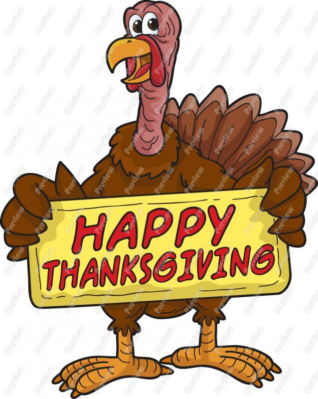 638x800 Thanksgiving Turkey Clipart