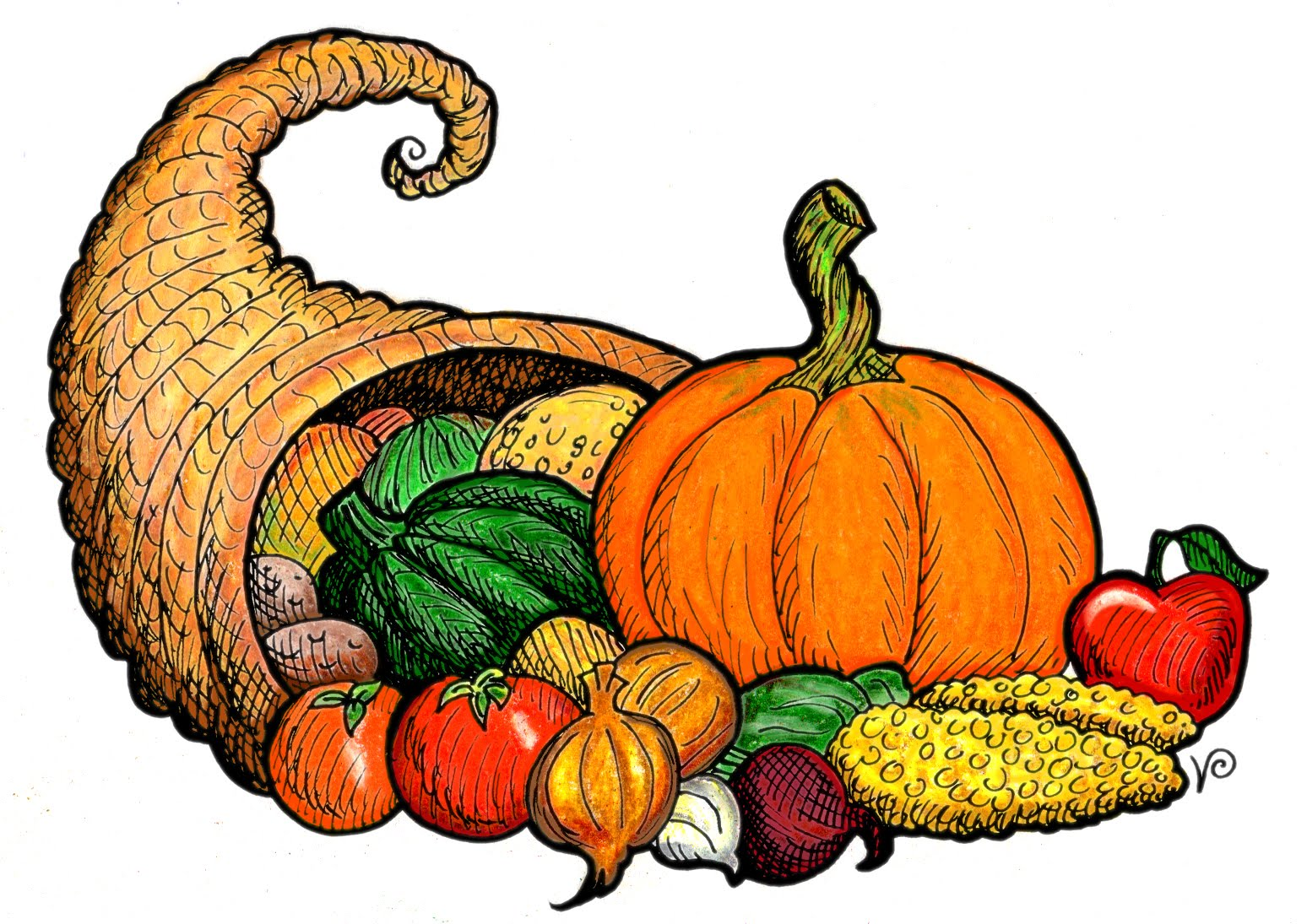 1548x1095 Thanksgiving clipart cornucopia