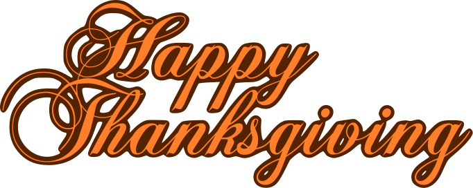 682x272 Happy Thanksgiving Text Clipart