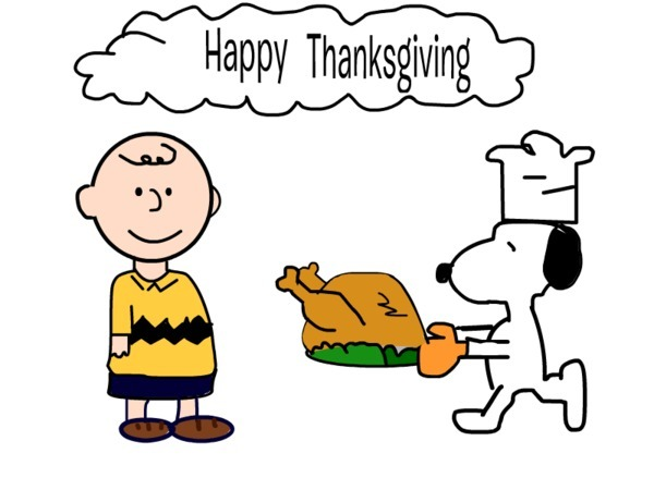 600x450 Charlie Brown Happy Thanksgiving Clipart
