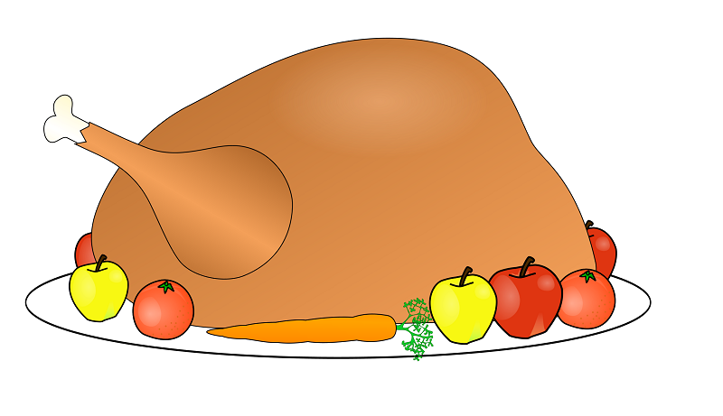 800x461 Happy Thanksgiving Clipart Black And White