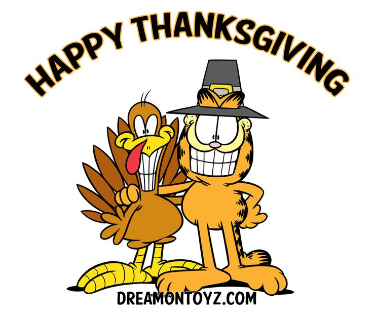 736x626 Garfield clipart thanksgiving