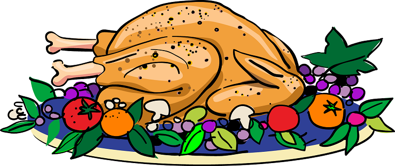 800x338 Happy Thanksgiving Clipart Black And White