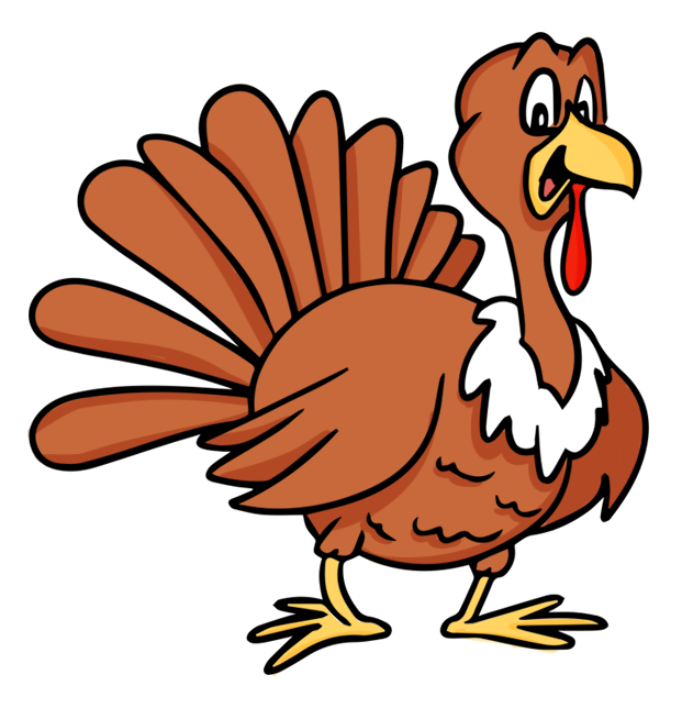 621x644 Animated Turkey Clipart