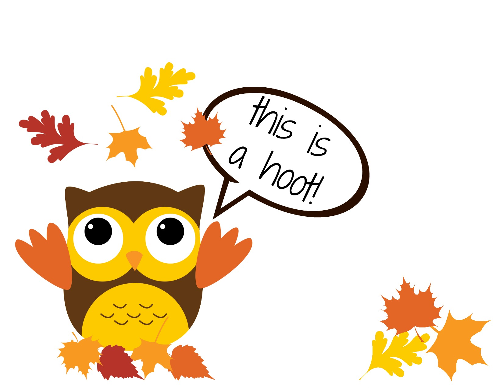 1650x1275 Thanksgiving Owl Clipart