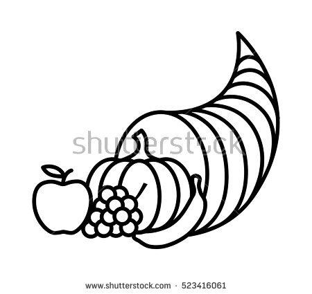 450x425 Cornucopia clipart thanksgiving basket