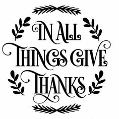 236x236 Give Thanks Clipart Black And White