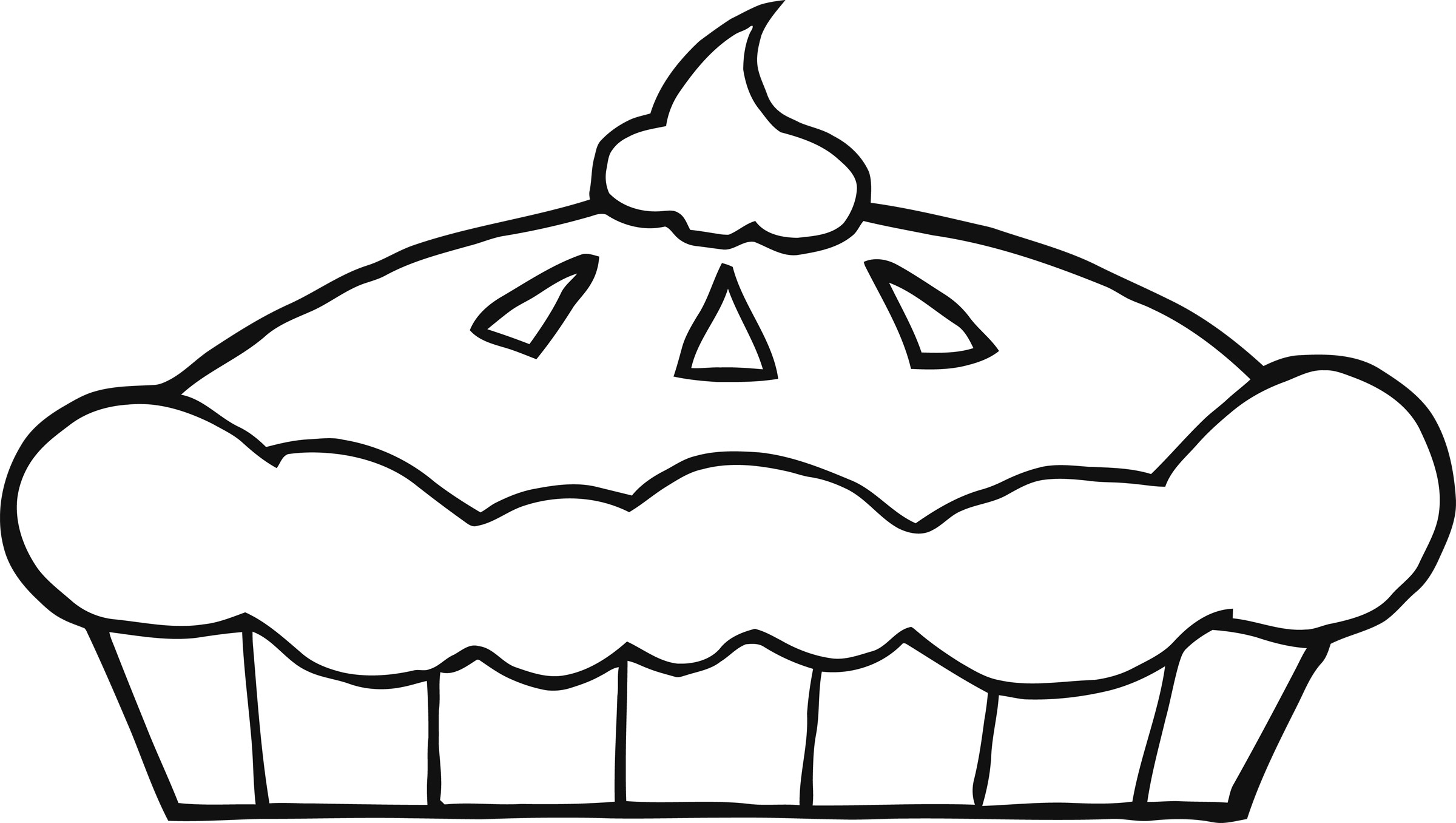 2400x1356 Thanksgiving Pie Clipart – Black And White – 101 Clip Art
