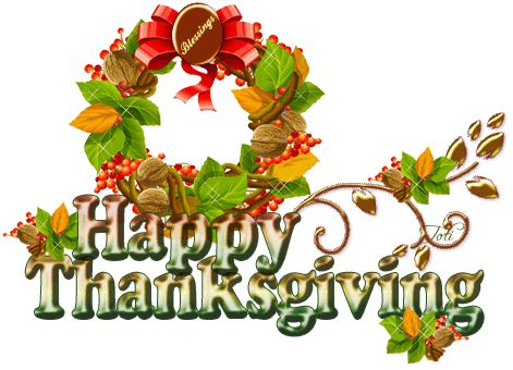 Thanksgiving Blessings Clipart
