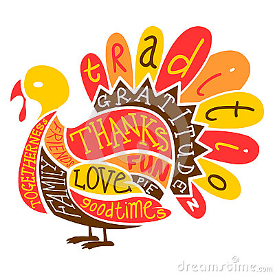 400x400 Thanksgiving Turkey Illustration Made Up Words Often Associated