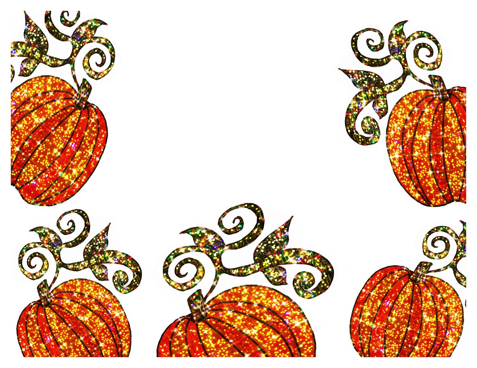 1600x1236 Pumpkin clipart boarder