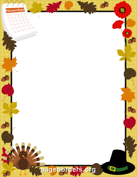 470x608 Happy Thanksgiving Border Clip Art, Page Border, And Vector Graphics