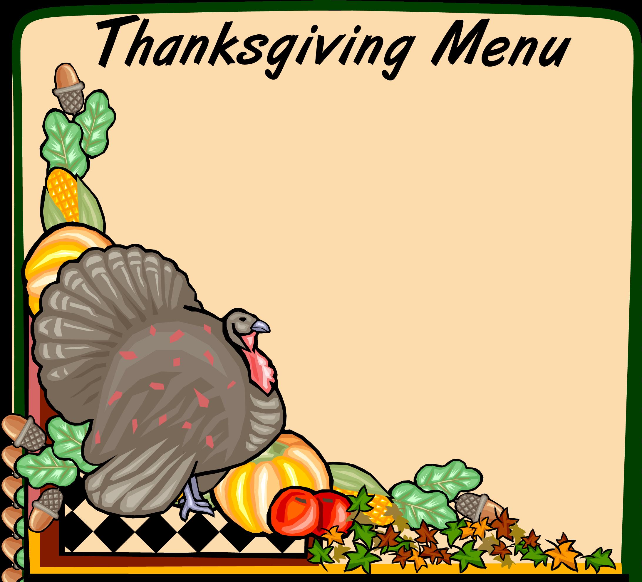 2185x1982 Thanksgiving Border Clipart