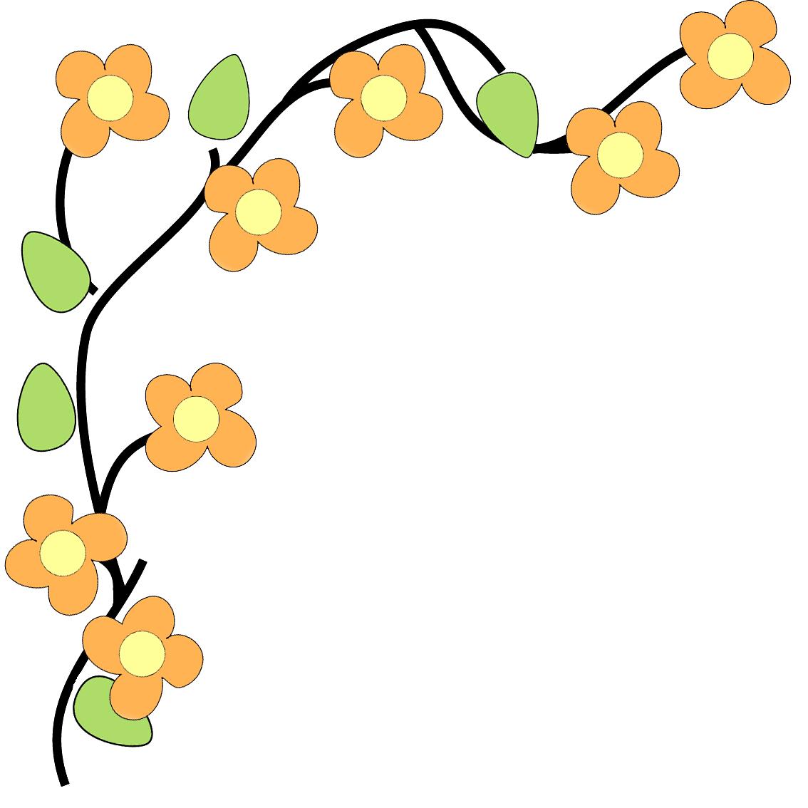 1134x1134 Fall Flower Border Clip Art
