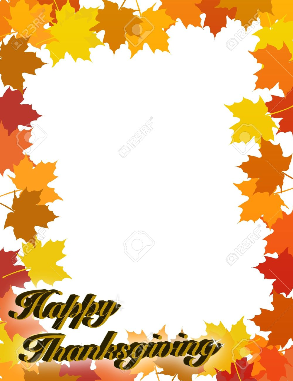 1000x1300 Happy Thanksgiving Border Clip Art