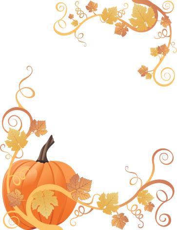 363x472 Pumpkin Border Clip Art