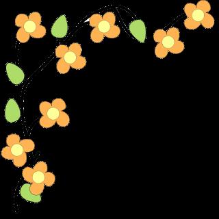320x320 Flower border free clip art image