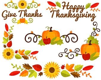 340x270 Happy Thanksgiving Border Clip Art