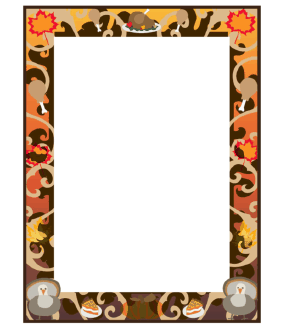 281x330 Thanksgiving Borders Page Thanksgiving Blessings