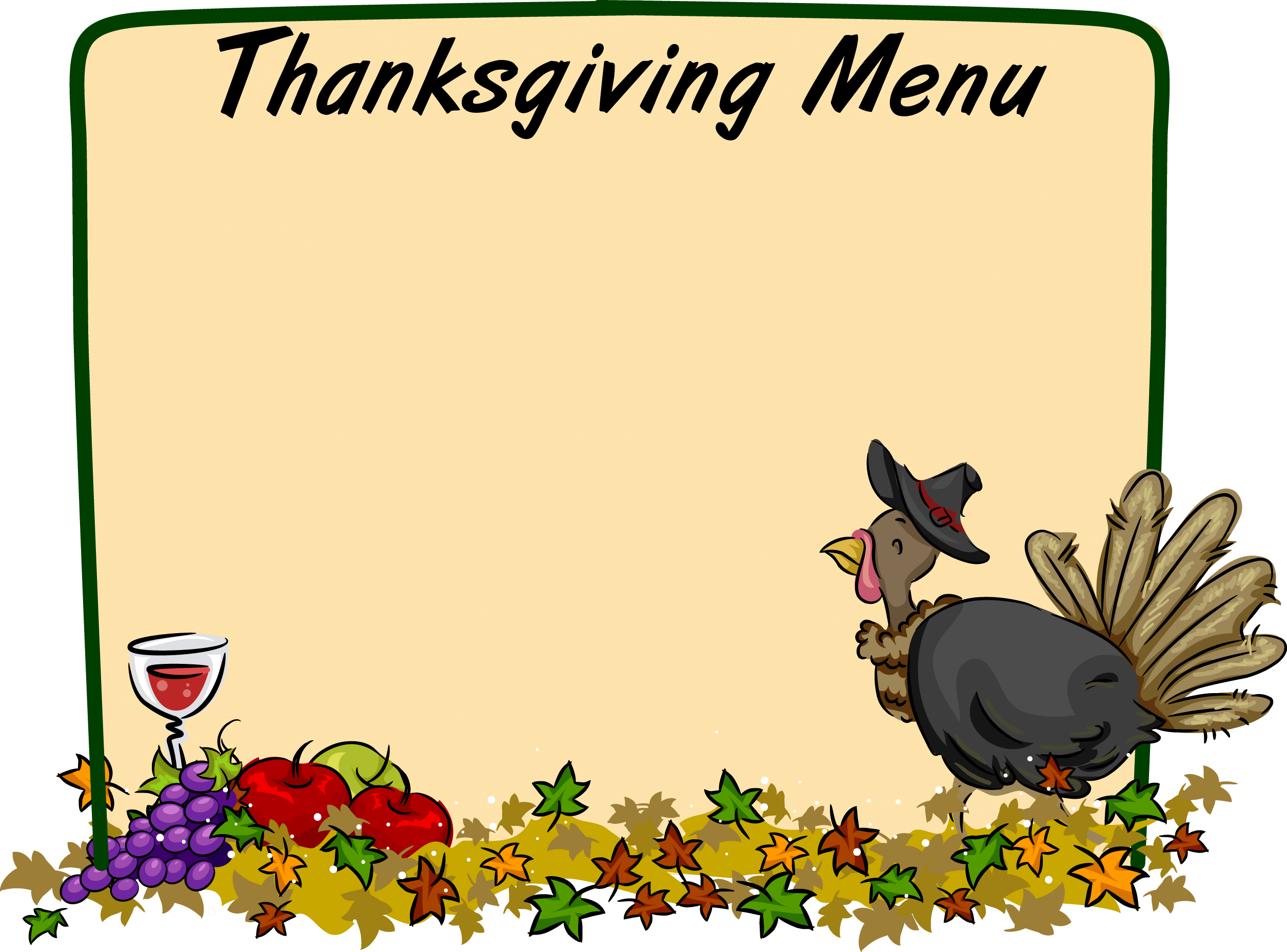 2509x1857 Thanksgiving Cliparts Borders
