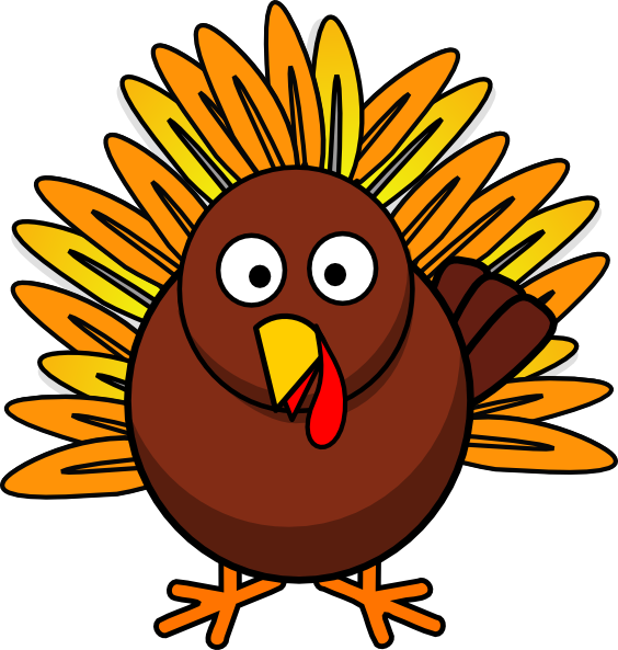 564x593 Thanksgiving Turkey Clip Art Borders