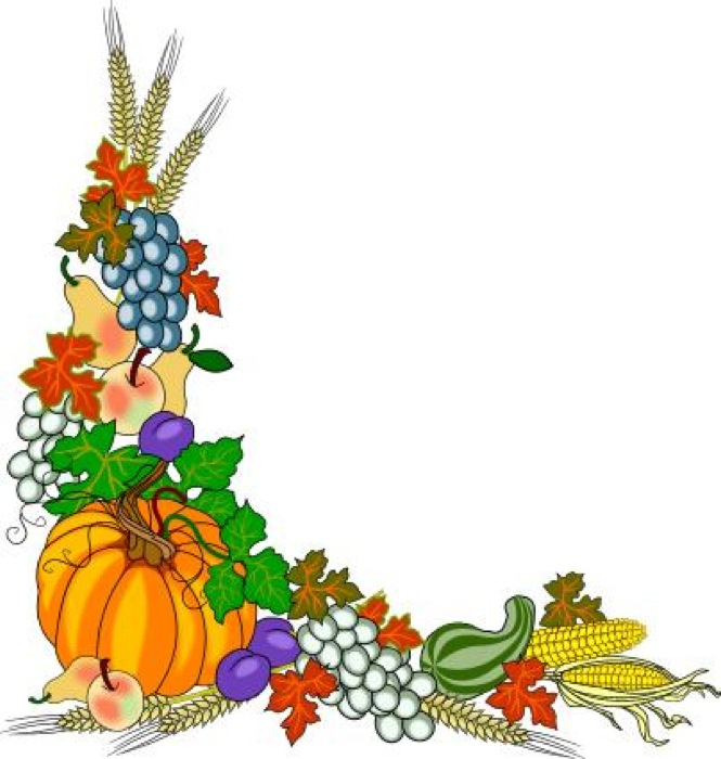665x700 Thanksgiving Borders Clip Art