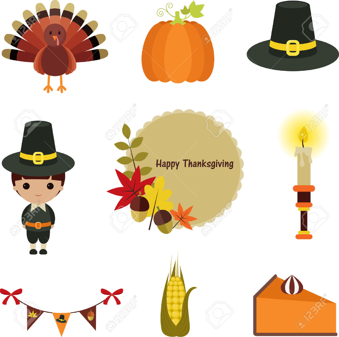 1300x1293 Vector Thanksgiving Borders Festival Collections