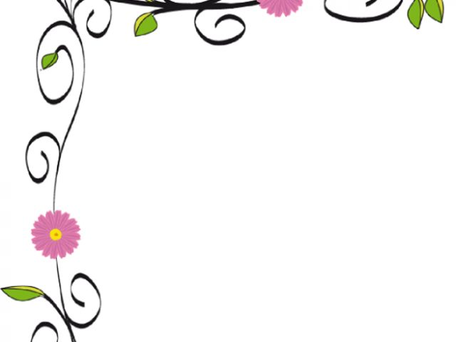640x480 Flower Border Free Clip Art Image