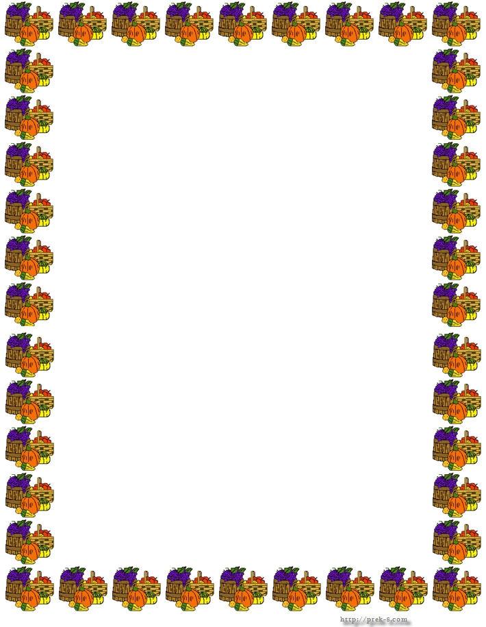 710x915 Happy Thanksgiving Border Clip Art