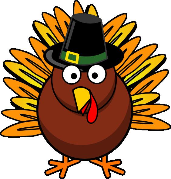 564x593 Happy Thanksgiving Turkey Clipart