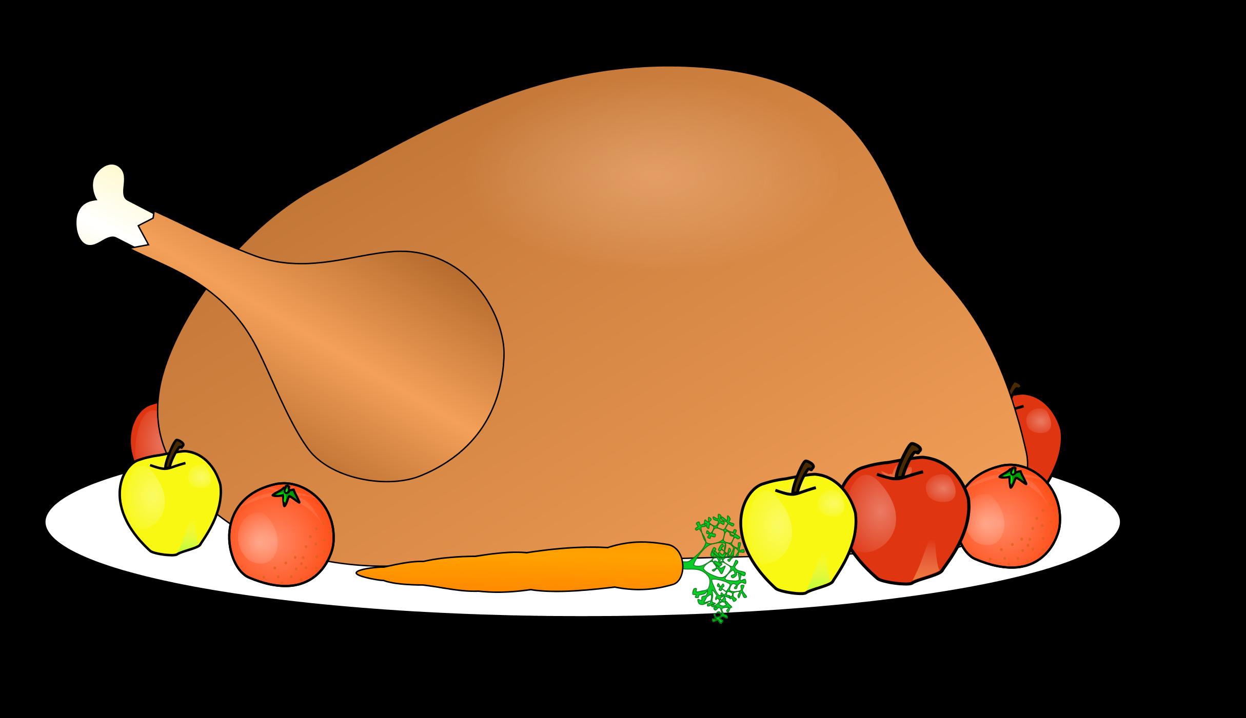 2429x1401 Turkey Thanksgiving Clipart