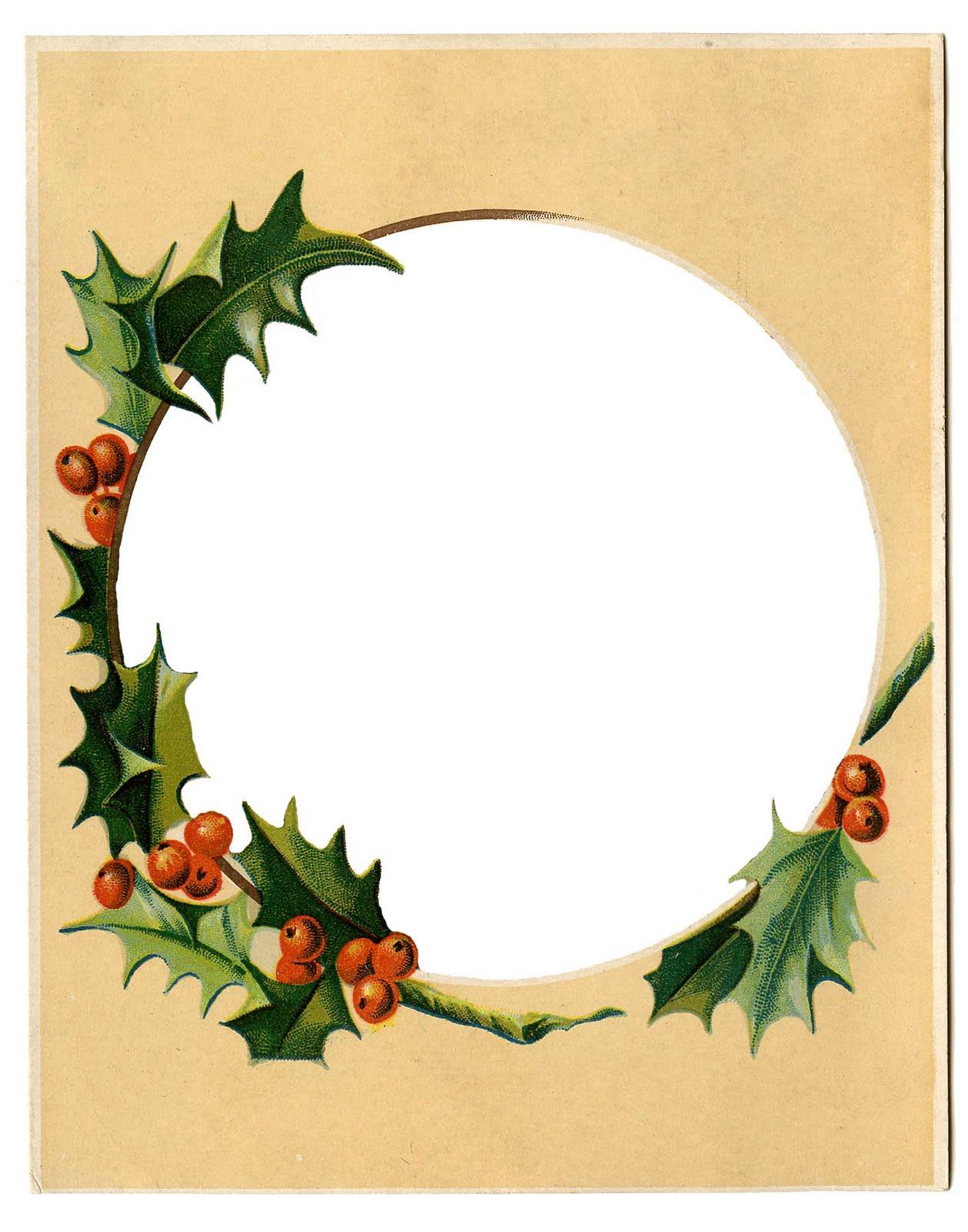 1258x1600 Vintage Christmas Clip Art