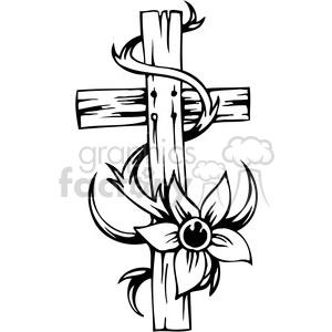 300x300 Royalty Free Christian Religion Cross 088 386030 Vector Clip Art